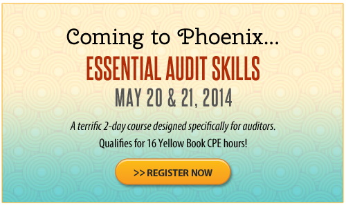 Essential Audit Skills – Phoenix – May 2014