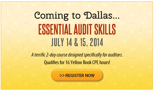 Essential Audit Skills – Dallas – July 2014