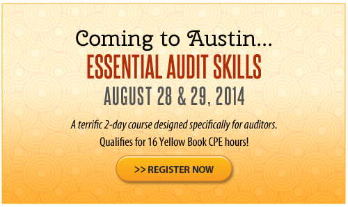 Essential Audit Skills – Austin- August 2014