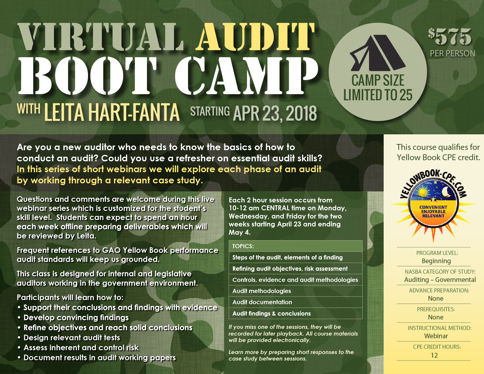 Virtual Audit Boot Camp