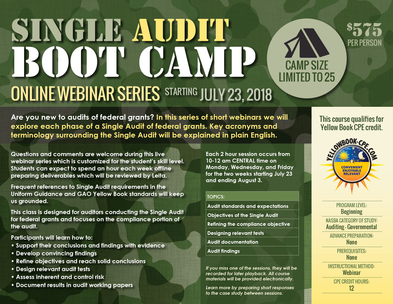 Single Audit Boot Camp